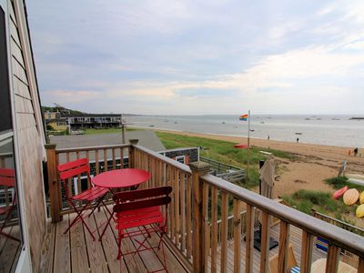 Photo for Gorgeous Beachfront East End Gem--Parking, A/C, Deck, Amazing Harbor Views