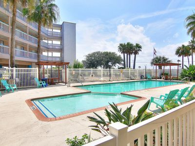 Photo for Cozy, waterfront condo w/ shared pool, gym, hot tub - close to the beach!