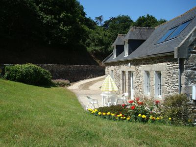 Photo for Detached house of character with garden 800m from the beach of Lestrevet