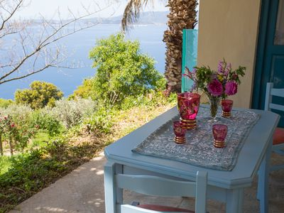 Photo for Ideal holiday home for self-catering with full kitchen and lovely sea views.