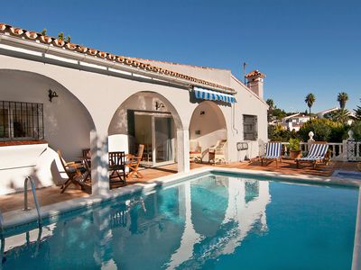 Photo for This 2-bedroom villa for up to 4 guests is located in Mijas Costa and has a private swimming pool, a