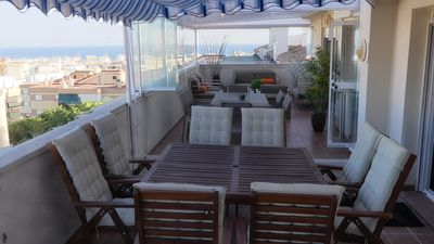 Photo for Penthouse 1800 sqft, with view on sea and town Estepona