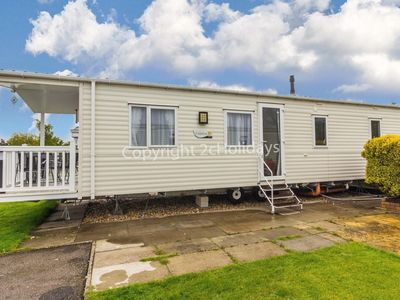 Photo for 6 berth caravan for hire with decking Southview Holiday park Skegness ref 33005