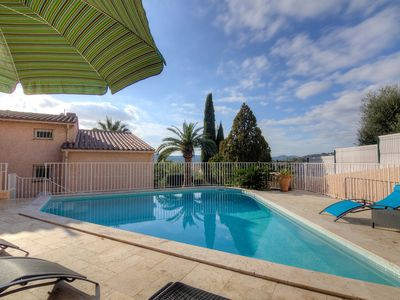 Photo for Stunning private villa for 8 guests with WIFI, A/C, private pool, TV and parking