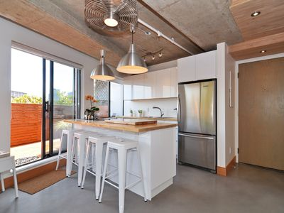 Photo for Luxury Modern Vancouver Condo in Gastown,Big Top Floor Private South-facing Deck