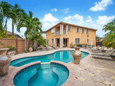 Photo for Spacious Beautiful MIAMI  Home On Lake With Large Pool and Waterfall Jacuzzi