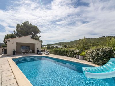 Photo for Alluring Villa in Pouzols-Minervois with Jacuzzi