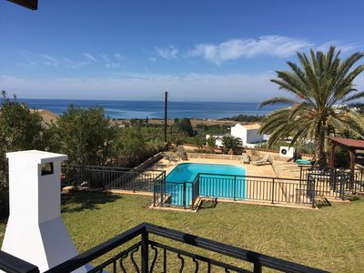Photo for Lovely Modern Villa, Large Private Pool, Sea Views, 5 mins Coral Bay & amenities