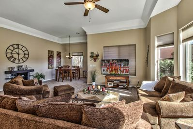 Large Great Room Area With 60 Inch Big Screen TV
