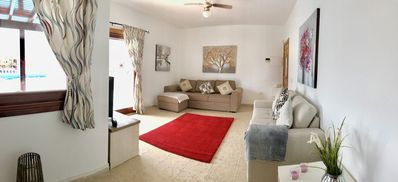 Photo for Beautiful Luxury 2 bed, Heated Swimming Pool with Child Safety Gates, Sea Views