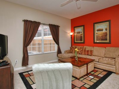 Photo for RESORT COMMUNITY, FREE WIFI, SOUTH FACING POOL, DISNEY THEME ROOM!