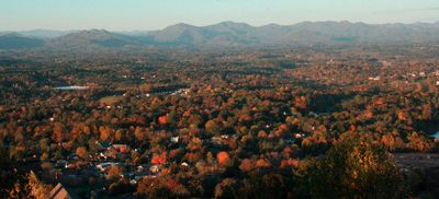 Fall colors in Weaverville. (View from Hamburg Mtn., not condominium)