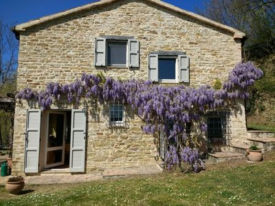 Photo for Beautiful Marche Farmhouse With Spectacular Views between Urbino and the Coast