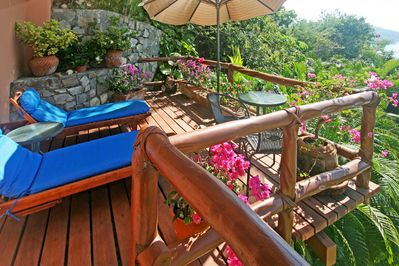 Your private deck, right outside your door