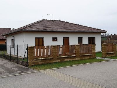 Photo for Detached bungalow with washing machine in the fenced garden in southern Bohemia
