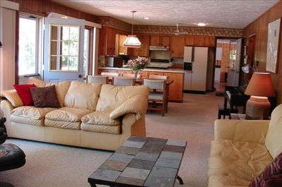 Open Living Area to Kitchen