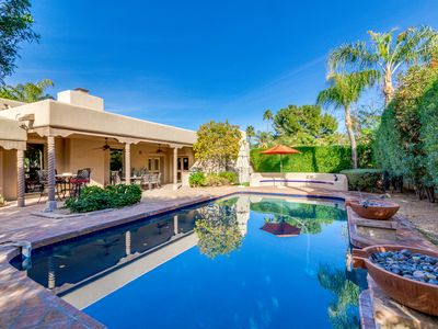 Photo for McCormick Ranch Stunner with HEATED POOL + PRIVATE BEDROOM CASITA!