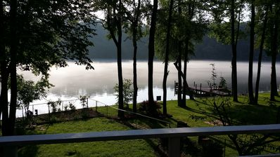 Photo for Great lakeside destination surrrounded by nature and near historic Hot Springs.