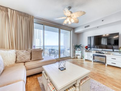 Photo for Lovely beachfront home w/ private balcony + shared pool/ hot tub & beach access