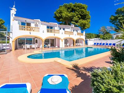 Photo for A huge, well-appointed villa with super-size private pool that is perfect for very large groups of u
