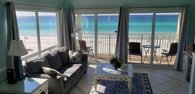 Photo for Beautiful Oceanfront Corner Unit with Gulf Views! Free beach chairs/umbrella!
