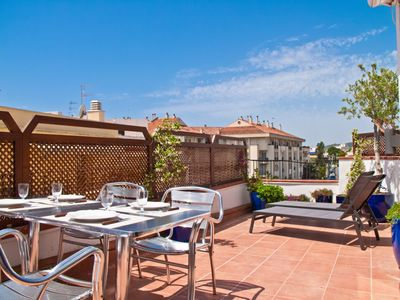 Photo for PETIT PLAISIR Great private terrace in Sitges.