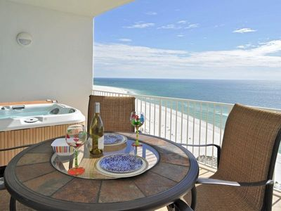 Photo for Luxury Beach Front Beach Condo w/ Breathtaking Views & PRIVATE Hot Tub