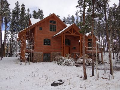 Photo for 4000 Square Feet, 5 BR, Log Post and Beam Home in Town