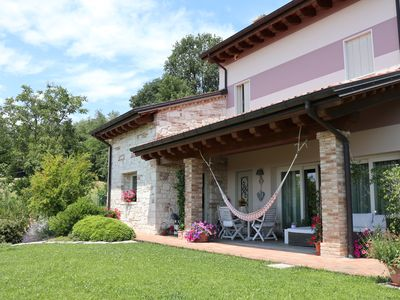 Photo for Refined, romantic, with pool, panorama, WIFI, in the hills 10 minutes from Vicenza
