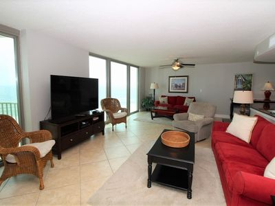 Photo for Perdido Towers East 801- Beach Front View from Terrace and Updated Interior!
