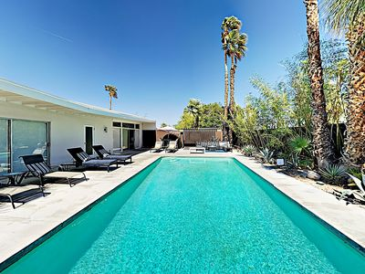 Photo for Tres Palmas 3BR Mid-Century Jack LaLanne Home - Pool, Spa & Fire Pit