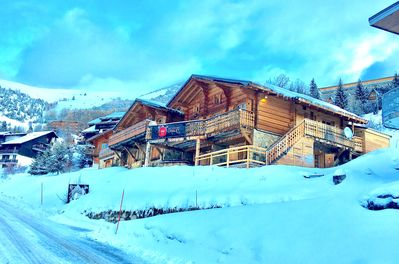 Winter front of the chalet