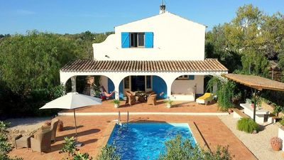 Photo for 2919 holiday house, private, 3 rooms. pool, seaview, 4km from the sea!