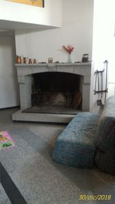 Photo for Basement, but bright: double bedroom, living-dining room, large fireplace, bathroom