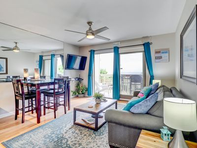 Photo for Beautifully remodeled oceanfront condo w/shared pool in North Forest Beach.
