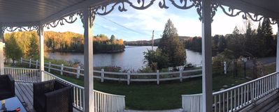 View of the lake from the balcony