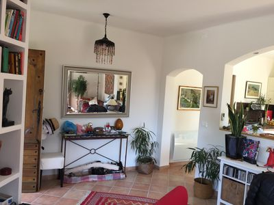 Photo for Very nice Menton house 110 m2, 10 minutes from the sea and shops, in