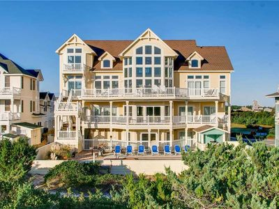 Photo for Gorgeous Oceanfront Estate- Elevator, Pool, Hot Tub Theater Room, Steps to Beach