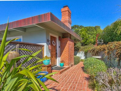 """""""Atherton Cottage has Ocean and Point Lobos Views & two Fireplaces!"""