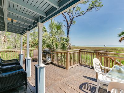 Photo for Save 10% on Stays this Summer| Charming bay-side cottage w/private deck, BBQ grill & outdoor sho