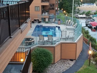 Photo for RIVER FRONT CONDO, INDOOR & OUTDOOR POOLS..WALKING DISTANCE TO DOWN TOWN