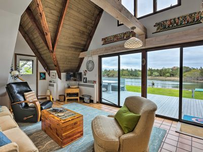 Photo for NEW! Waterfront Southampton A-Frame Home with Deck