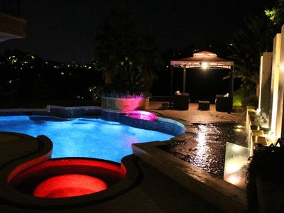 Photo for Gorgeous Hollywood Hills Estate With Amazing Views, Pool, Spa, Waterfalls & BBQ
