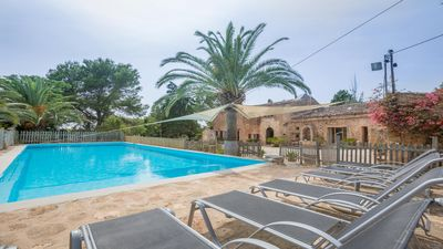Photo for Typical Mallorcan country house with pool