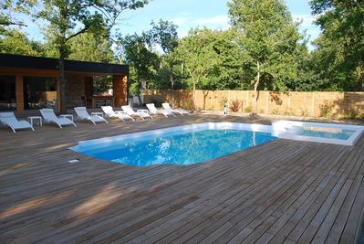 250sq.m of wooden terrace