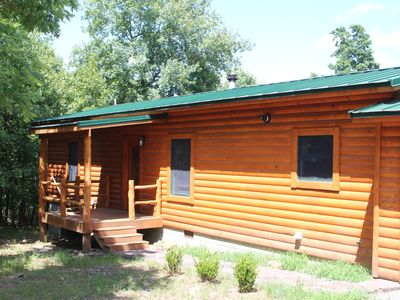 Photo for Wilson Lodge - modern log cabin near Greers Ferry Lake and the Little Red River