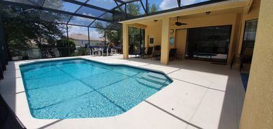 5 Bed 4 bath Villa with large solar & electric heated pool, not overlooked.