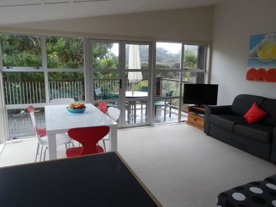 Photo for Modern 2 bed bach in a very private garden setting