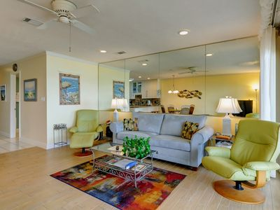 Photo for Stylish first floor condo w/ free WiFi, water views, and easy beach access!