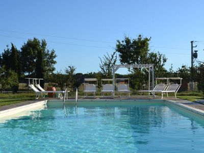 Photo for Agriturismo Beveraggio typical apartment 2 km from the sea, swimming pool, garden